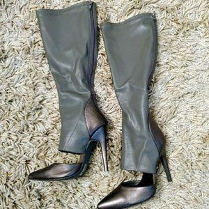 Shoes - Kiki's Grey Boots Size 7